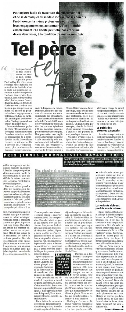 Pèlerin magazine mai 2005