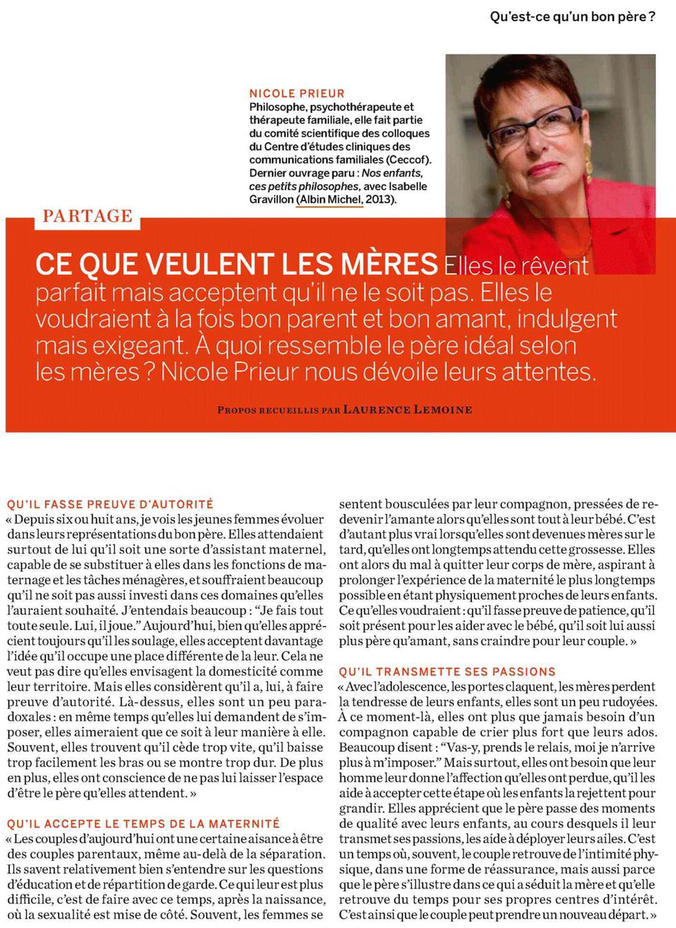 Psychologies Magazine, décembre 2013